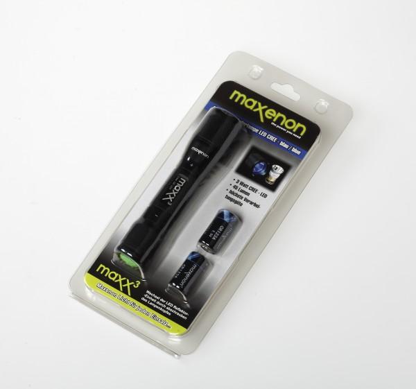 Maxx3 - Taschenlampe LED Blau im Blister